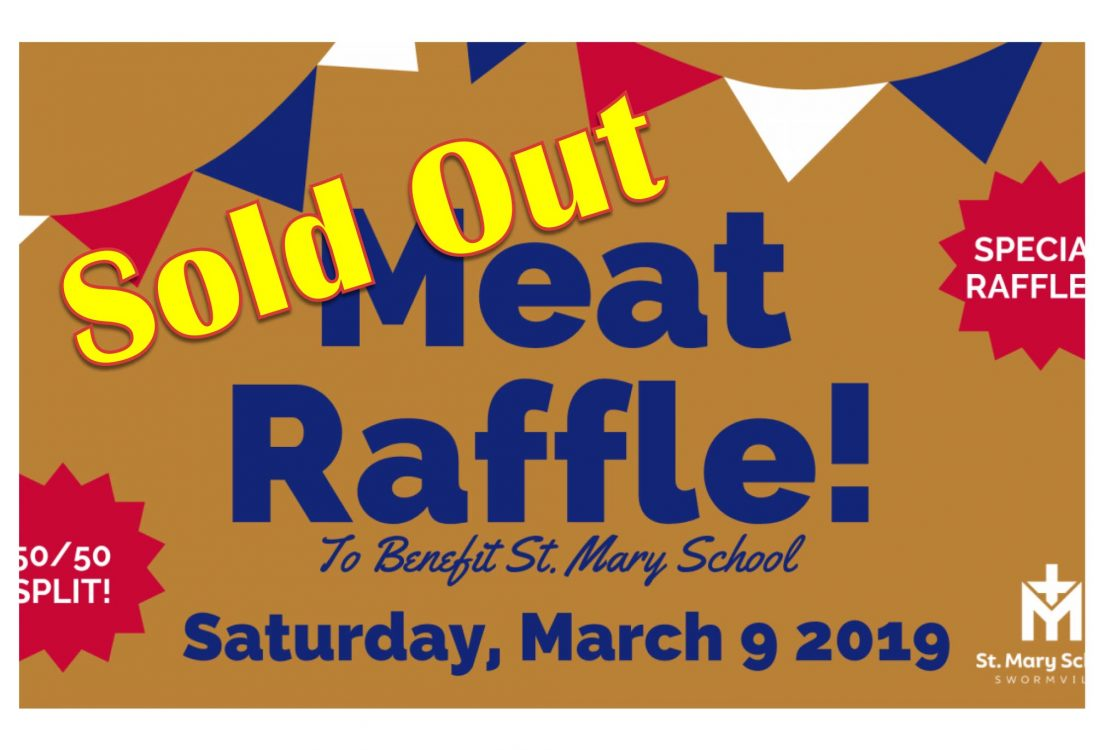 Sold out meat rafle