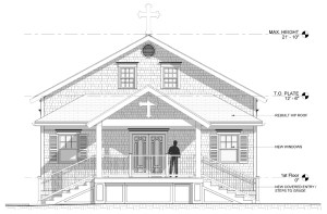 Narthex exterior elevation