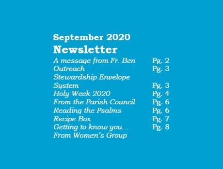 St.Michael Newsletter, September 2020