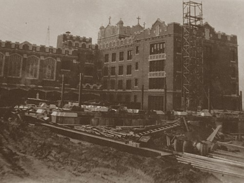 Mount St. Michael under construction