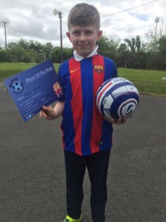 2016/17, Burns Soccer School P1-P3 Player of the Week