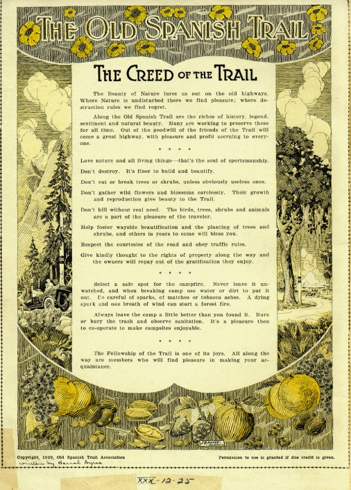 """""""The Creed of the Trail"""" is a plea for renovation and is a strong statement of advocacy for conservation efforts 