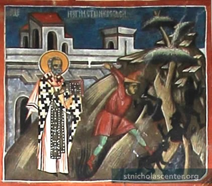 Image result for St Nicholas expelling demons