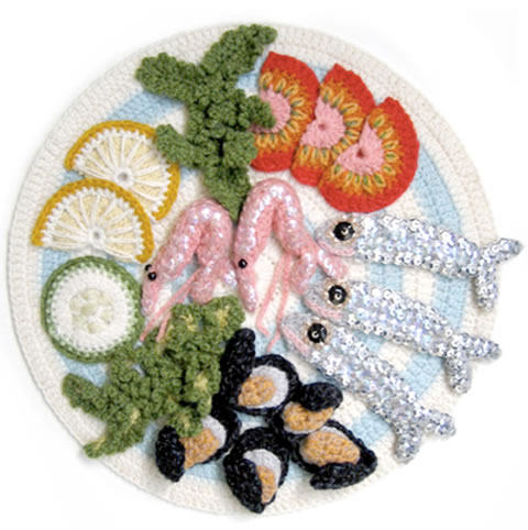 Kate Jenkins knitted food image