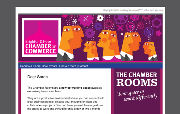 Email header design for Chamber of Commerce