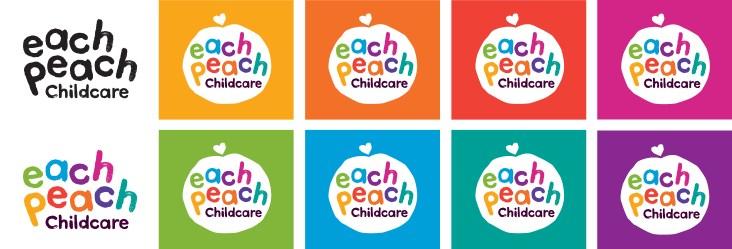 Logo design and branding for Each Peach Childcare