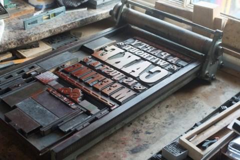 My letterpress design