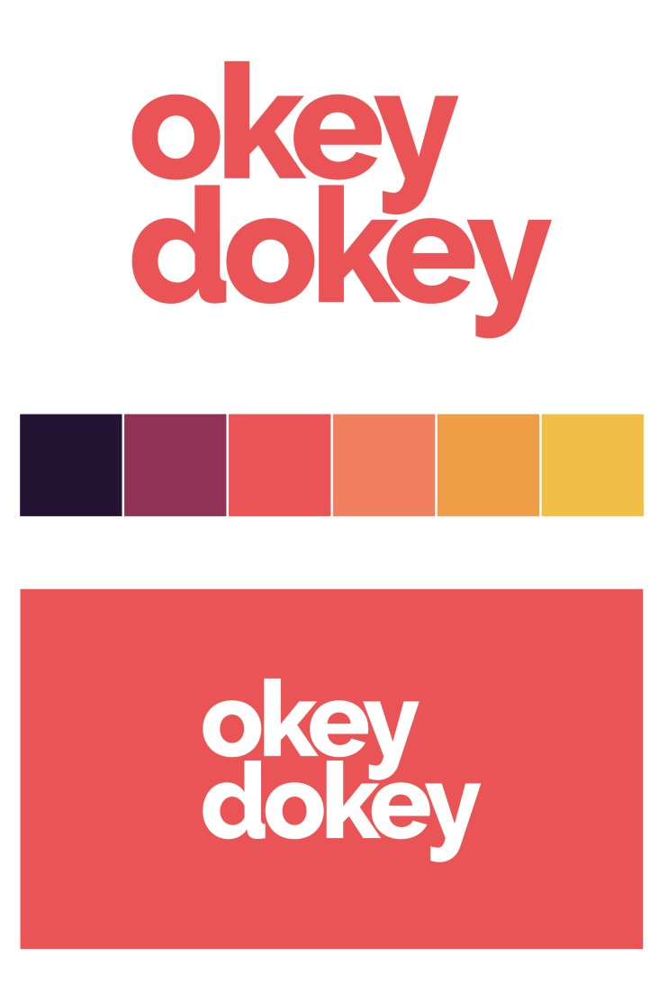 Logo and brand colours for Okey Dokey