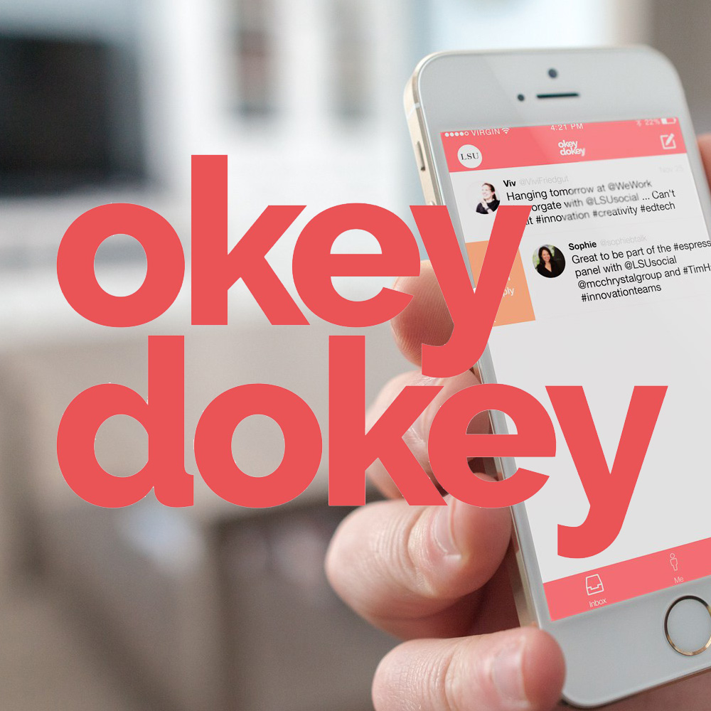 Okey Dokey logo and app design