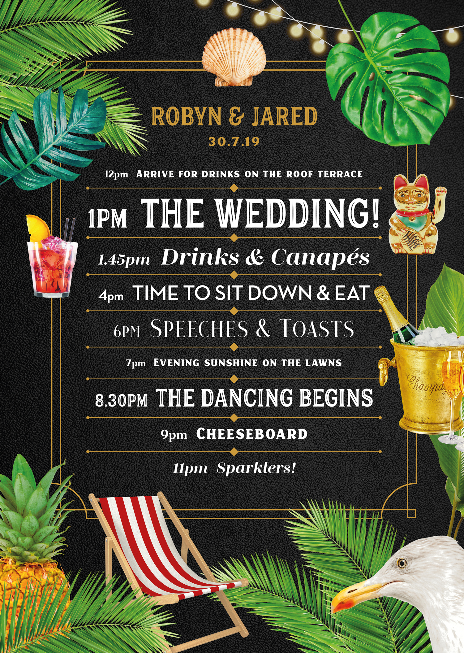 Wedding poster design