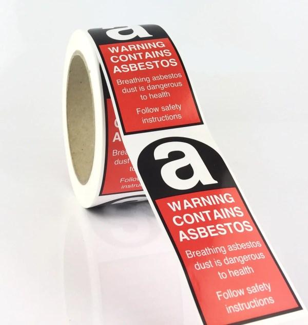 Asbestos Label, Asbestos Labels