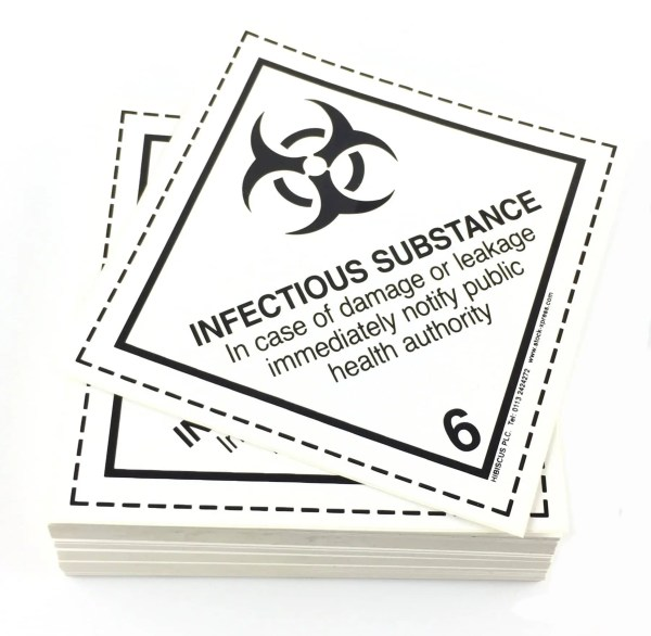 class 6.2 labels infectious substance labels