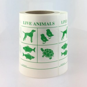 live animal label
