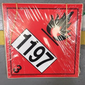 class 3 placard with un1197