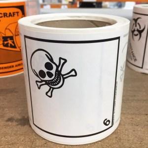 class 6.1 label, class 6.1 labels, toxic label, toxic labels