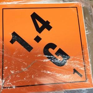 explosive label 1.4G
