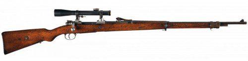Rifle Mauser GEW 98 de francotirador utilizado en la WWI