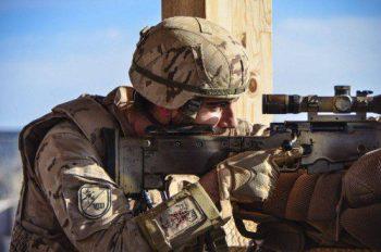 Integrante del equipo de tiradores de precisión de la VIII Bandera