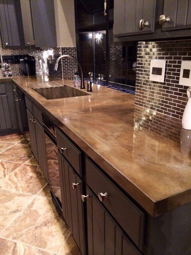 8 Creative Concrete Countertop Designs on Countertop Decor  id=24427