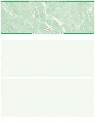 Value Top Green Marble Blank Laser Check Sctgmbbasic