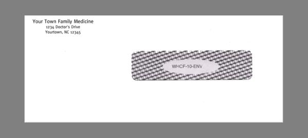 CMS claim envelope self seal