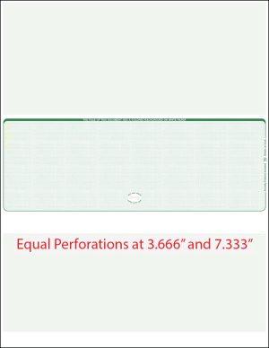 Middle Green equal Perforation Blank Laser Check WLSTK8LNHG