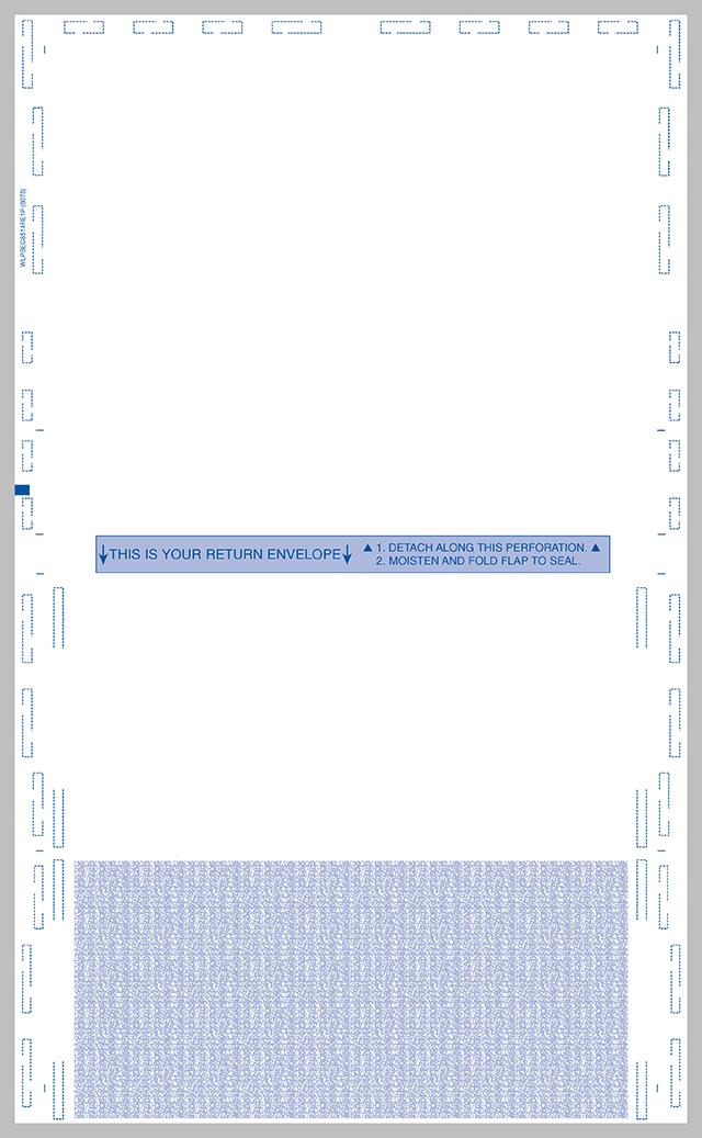 Legal 14 Eccentric C Fold Blank Return Forms With Return