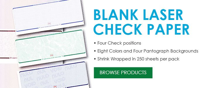 Blank Laser Check Paper