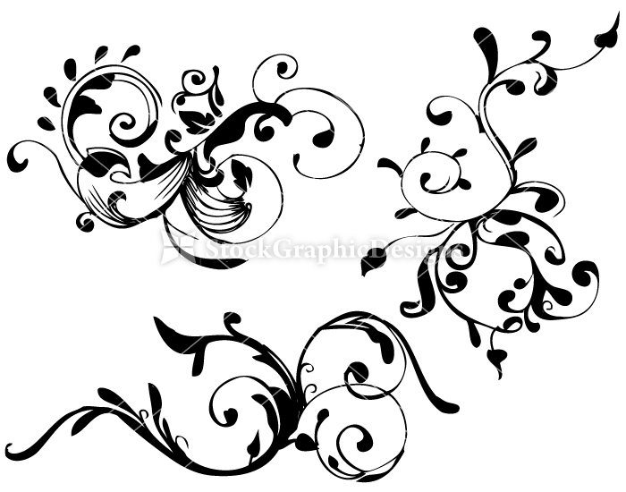Hand Drawn Floral Set1