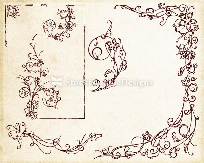 Ornamental wedding decoration elements vector vector photoshop no of designs junglespirit Choice Image