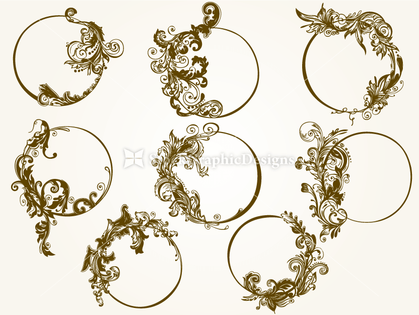Borders & Frames | Vector & Photoshop Brushes | Stock Graphic Designs