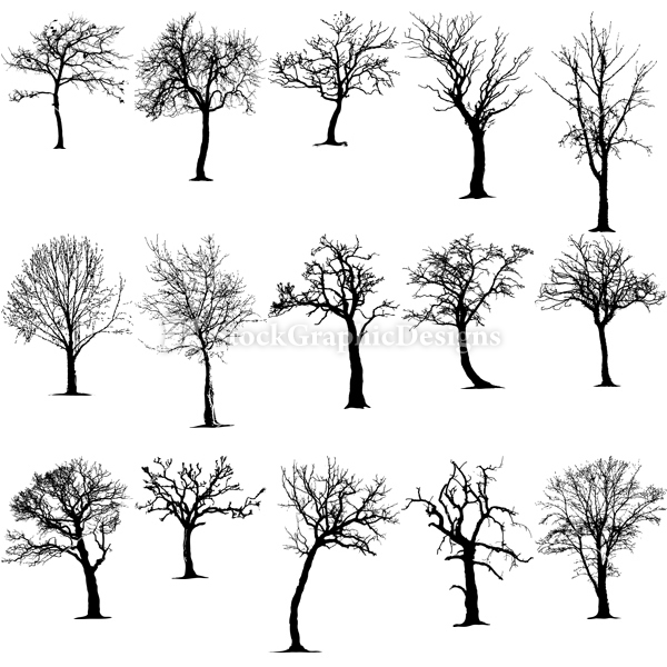 Nature silhouette photoshop brushes