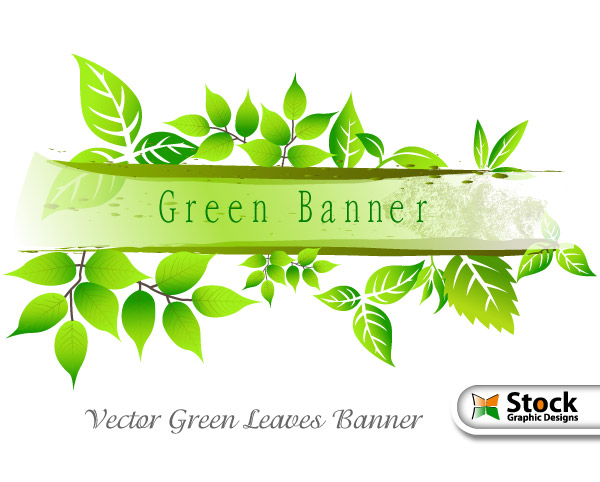 leaves banner vector photoshop brushes stock graphic designs