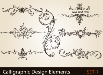 calligraphic-design-elements-page-decoration-vector-illustration-s1