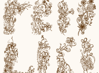 floral-ornaments-vector-illustrator-photoshop-brushes-set-1