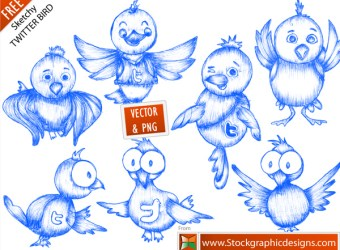 free-vector-sketchy-twitter-bird-icons
