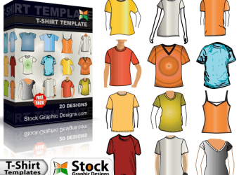 free-vector-t-shirt-template-vector-pack-l