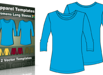 t-shirt_templates_womens_long_sleeve