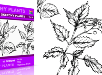vector_brush_sketchy_plants_4