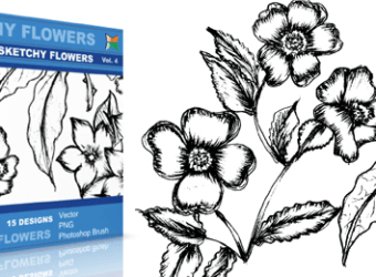 vector_sketchy_flowers_4_