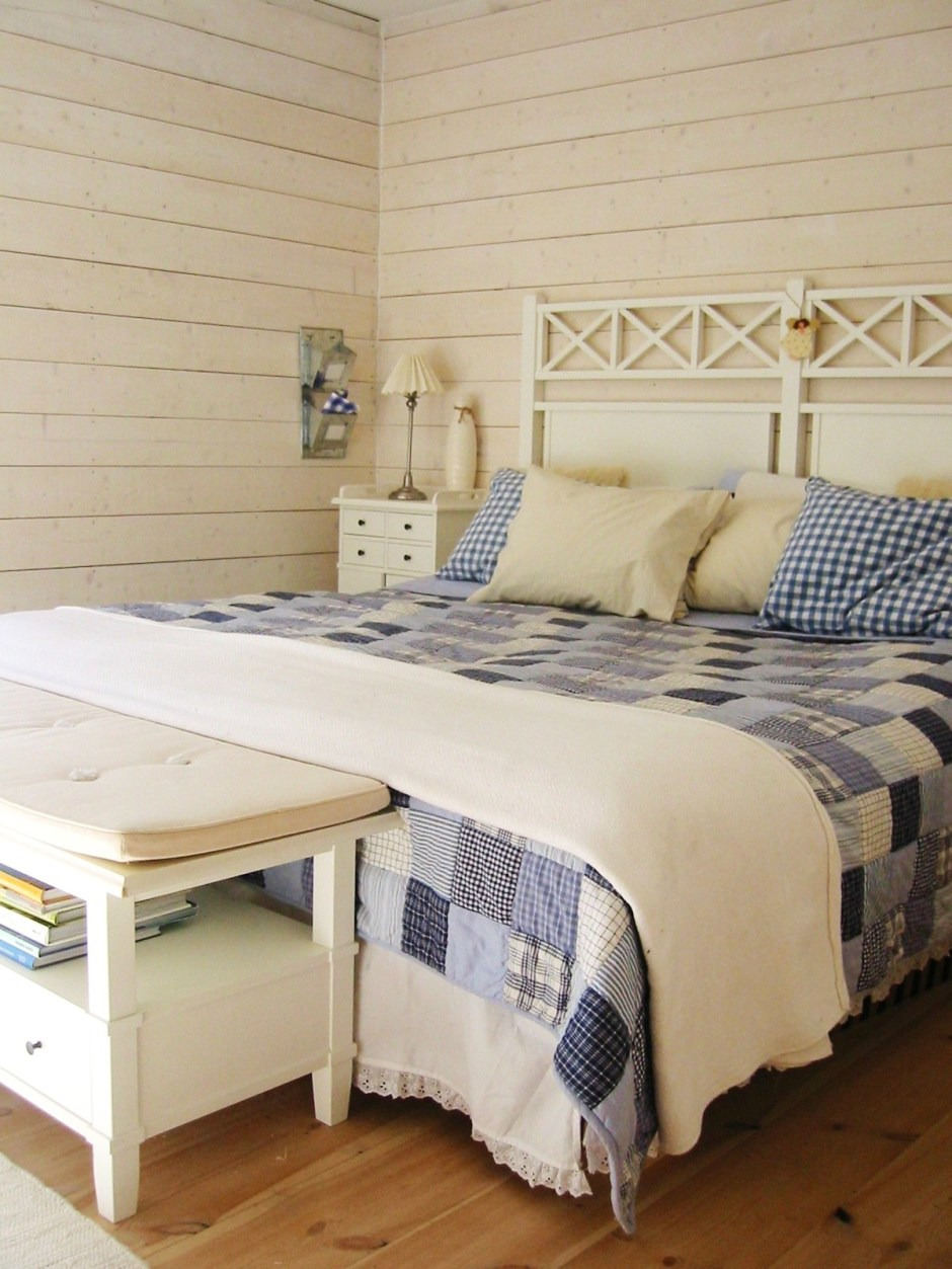Das Gästezimmer unseres Ferienhauses in Stockholm, Schweden