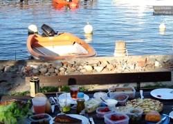 Unser Ferienhaus steht in Stockholm auf den Inseln am Meer