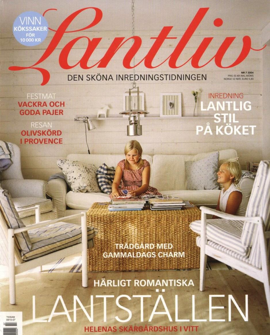 Ferienhaus auf dem Titelbild vom schwedischen Magazin Lantliv
