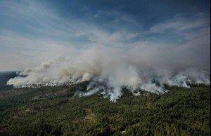 L'incendio in Västermanland - Foto: AnonSweden