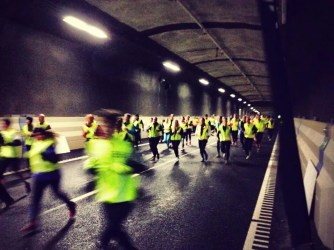 La corsa del tunnel. Foto: Stockholm Tunnel Run 2014 (FB)