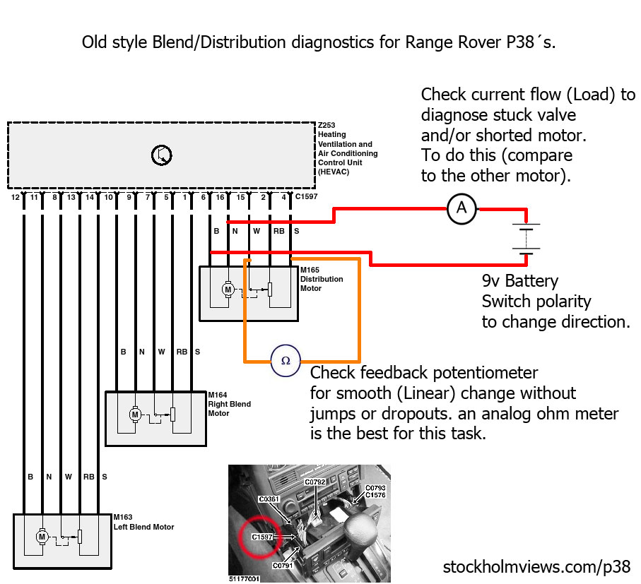blend motor diag?resize=665%2C606 range rover p38 wiring diagram range wiring diagrams collection  at edmiracle.co