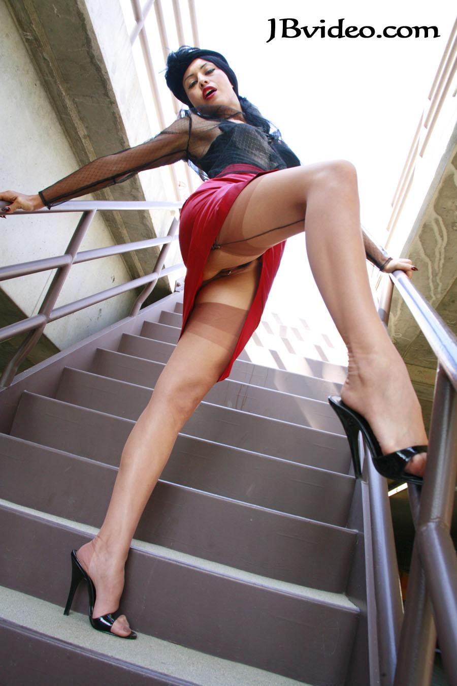 Climbing Stairs Upskirts-9429