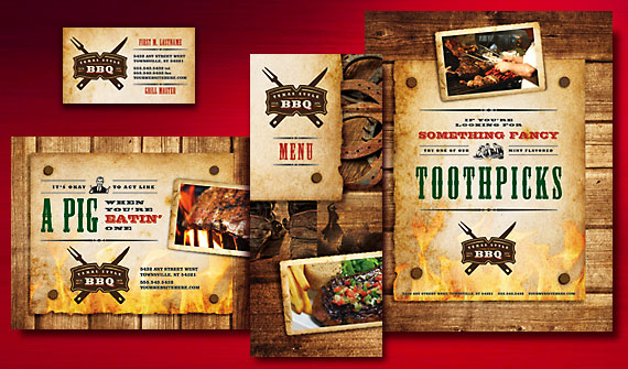 Create lip smackin menus postcards and flyers for a bbq