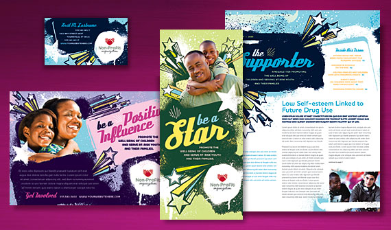 Child Advocates Brochure, Newsletter, Flyer & Ads, Stationery, and Poster Designs