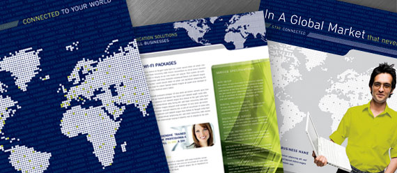 Global High Technology Company Brochure, Flyer & Ad, Datasheet and Stationery Designs